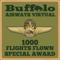 1000 Flights Special Award