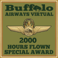 Given to pilots who have achieved the 2000 hours mark.