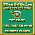 December 2010 - Top Pilot Award (Flights Flown)