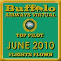 June 2010 - Top Pilot Award (Flights Flown)