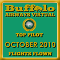 October 2010 - Top Pilot Award (Flights Flown)