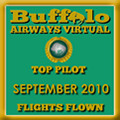 September 2010 - Top Pilot Award (Flights Flown)