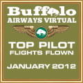 JAN 2012 TOP FLIGHTS FLOWN AWARD