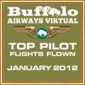 JAN 2012 TOP FLIGHTS FLOWN AWARD