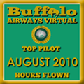 August 2010 - Top Pilot Award (Hours Flown)