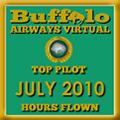 July 2010 - Top Pilot Award (Hours Flown)