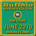June 2010 - Top Pilot Award (Hours Flown)