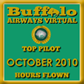 October 2010 - Top Pilot Award (Hours Flown)