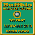 September 2010 - Top Pilot Award (Hours Flown)