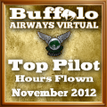 November 2012 Most Hours award