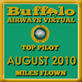 August 2010 - Top Pilot Award (Miles Flown)
