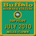 July 2010 - Top Pilot Award (Miles Flown)