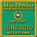 June 2010 - Top Pilot Award (Miles Flown)