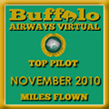November 2010 - Top Pilot Award (Miles Flown)