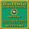 October 2010 - Top Pilot Award (Miles Flown)