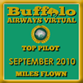 September 2010 - Top Pilot Award (Miles Flown)
