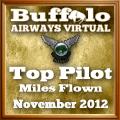 November 2012 Most Miles award