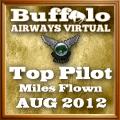 August 2012 Miles Flown Award