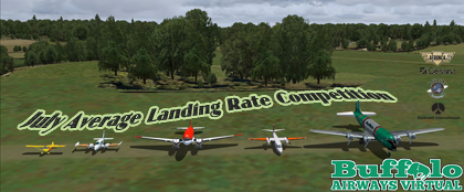 July Average Landing Rate Competition