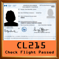 Given to pilots who complete the CL-215 Check Flights.