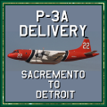 'P-3A Delivery' N922AU Delivery flight 'Sacremento to Detroit'