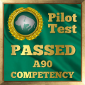 Pilot Competency Test Award for the A90