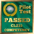 Pilot Competency Test Award for the CL215