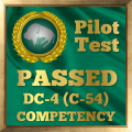 Pilot Competency Test Award for the DC-4