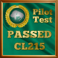 Given to pilots who complete the CL-215 Exam.