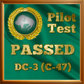 Given to pilots who complete the DC-3 / C-47 Exam.